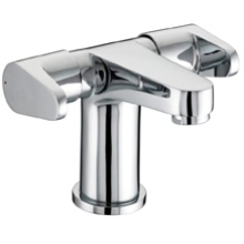 Bristan Quest 2 Handled Basin Mixer With Clicker Waste Chrome