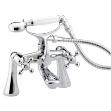 Bristan Regency Bath/Shower Mixer with Tall Pillars 245mm High - Chrome