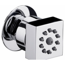 Bristan Rub Clean Square Body Jet Shower - Chrome