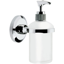 Bristan Solo Wall Mounted Frosted Glass Soap Dispenser Chrome