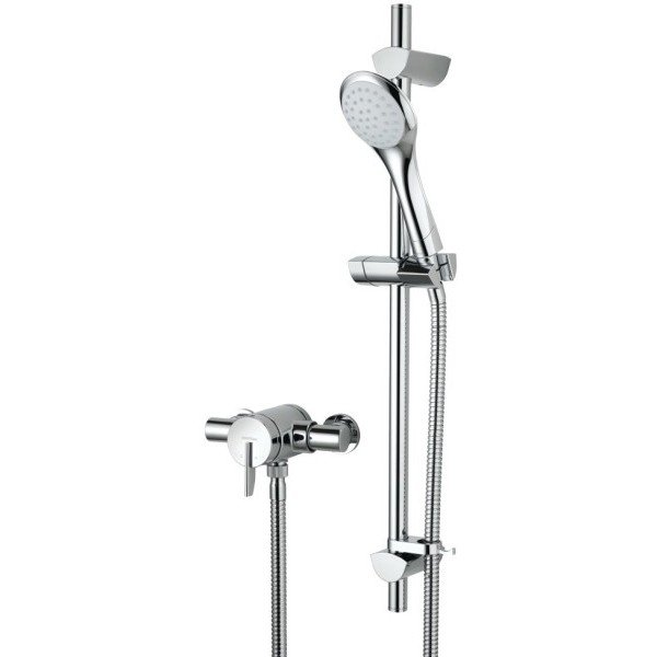 Bristan Sonique Exposed Thermostatic Mixer Shower with Adjustable Riser - Chrome