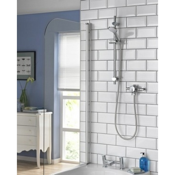 Bristan Sonique Thermostatic Surface Mounted / Recessed Mini Shower Valve with Adjustable Riser