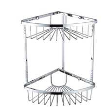 Bristan Two Tier Corner Wire Basket