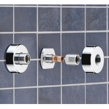Bristan Wall Mounted Fixing Kit Chrome