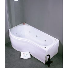Bronte Ara 1500 P-Shaped 10 Jet Whirlpool Bath