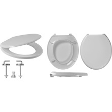 Celmac Wirquin Flamenco Toilet Seat with Stainless Steel Bottom Fix Hinge Lock+