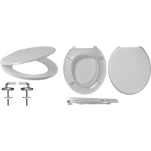 Celmac Wirquin Flamenco Toilet Seat with Stainless Steel Top Fix Hinge Lock+