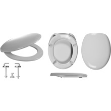 Celmac Wirquin Fusion Toilet Seat with Stainless Steel Bottom Fix Hinge Lock+