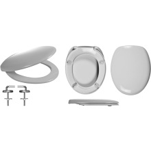 Celmac Wirquin Fusion Toilet Seat with Stainless Steel Top Fix Hinge Lock+