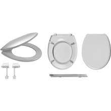 Celmac Wirquin Melody Toilet Seat with Plastic Hinge Lock+