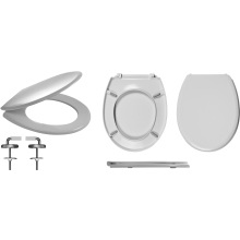 Celmac Wirquin Melody Toilet Seat with Stainless Steel Top Fix Hinge Lock +