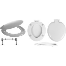 Celmac Wirquin White Sonata Seat & Cover BHF Hinge
