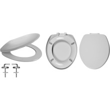Celmac Wirquin VIP Toilet Seat with Stainless Steel Top Fix Hinge Lock+