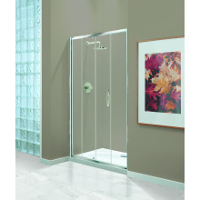 Coram 1200mm Premier Sliding Door Chrome Plain Glass