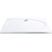 Coram Slimline Rectangle Shower Tray 1200mm x 800mm - White
