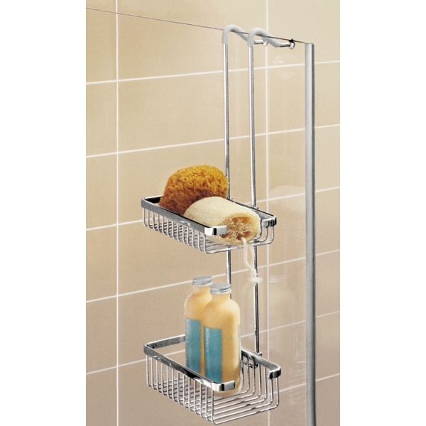 Coram Double Suspended Shower Basket Chrome
