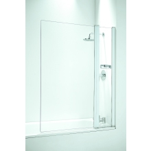 Coram Frameless Square Bathscreen/Panel 1050mm Plain Glass/Chrome