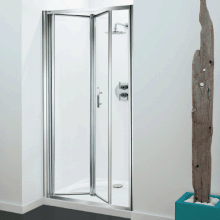 Coram Optima Bi-Fold Enclosure Door 1000mm Plain Glass