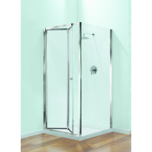 Coram Optima Bi-Fold Enclosure Door 900mm White Frame