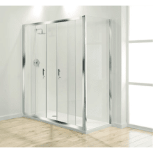 Coram Optima Double Sliding Enclosure Door 1700mm - Plain Glass