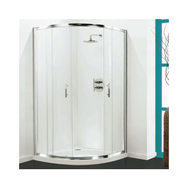 Coram Optima Quadrant Enclosure Door 800mm - White Frame