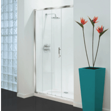 Coram Optima Sliding Enclosure Door 1200mm - White Frame