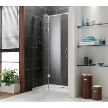 Coram Premier Frameless Hinged Door 1200mm - Plain Glass - Left Hand