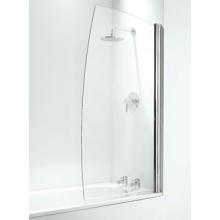 Coram Sail Bath Screen (5mm) 1400mm x 800mm - White