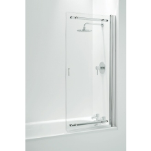 Coram Sliding Bath Screen (5mm) 1400mm x 1065mm - Chrome