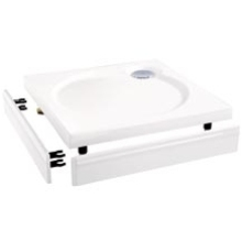 Coram Slimline Tray Riser Kit Quadrant 900mm -  White