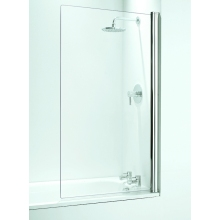 Coram Square Bath Screen (5mm) 1400mm x 800mm - Chrome