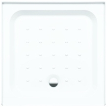 Coram Square Riser Tray For Alcove 800mm x 800mm - White