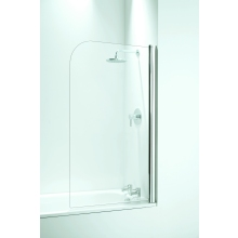 Coram Curved Bath Screen (5mm) 1400mm x 800mm - White