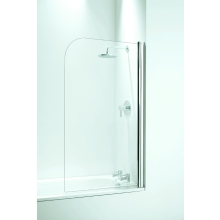 Coram Curved Bath Screen (5mm) 1400mm x 800mm - Chrome