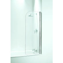 Coram Curved Bath Screen (5mm) 1400mm x 550mm - Chrome