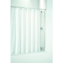 Coram Fixed Panel Shower Curtain Bath Screen (4mm) 1400mm x 250mm - Chrome