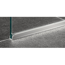 Coram Stylus Glass Screen 1200mm - Chrome Trim