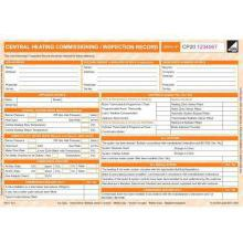CORGI direct Central Heating Commissioning/Inspection Record - CP20