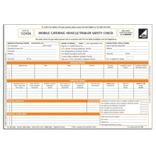 CORGI direct Mobile Catering Vehicle/Trailer Safety Check Forms - CP44