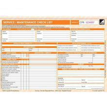 CORGI direct Service/Maintenance checklist Form - CP6