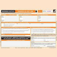 CORGI direct Warning/Advice Notice - CP14 - New Design