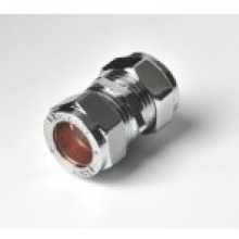 Flowflex Compression Straight Coupler 15mm Chrome