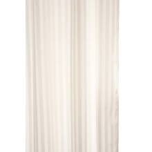 Croydex 1800mm x 1800mm Woven Stripe Shower Curtain - Ivory