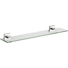 Croydex 54 x 612 x 135mm Cheadle Glass Shelf Chrome