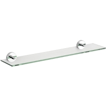 Croydex 54 x 620 x 133mm Epsom Glass Shelf Chrome