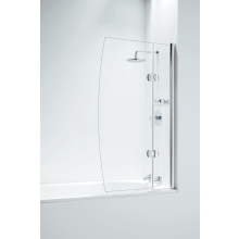 Designer Hinged D Bathscreen with Panel