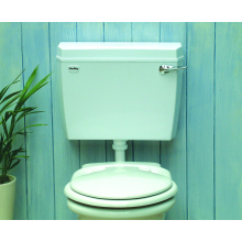 Dudley Contour Acclaim Low Level Side Inlet Cistern - White