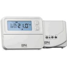 EPH Combi Pack 4 Programmable RF Thermostat & V222P 2 Port Motorised Valve 22mm