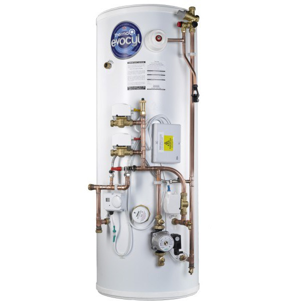 ThermaQ Evocyl HE Indirect Pre-Plumbed Twin Zone Cylinder 300L