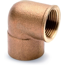 "Female Elbow 22mm X 3/4"" Bronze"